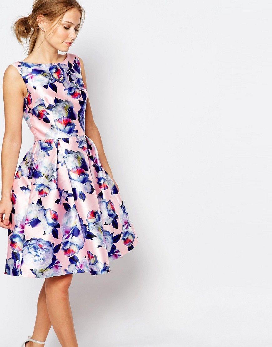 нарядное платье цветочный принт фото