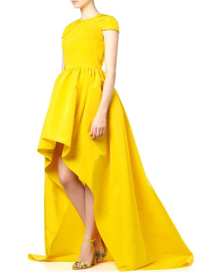 нарядное платье желтое фото