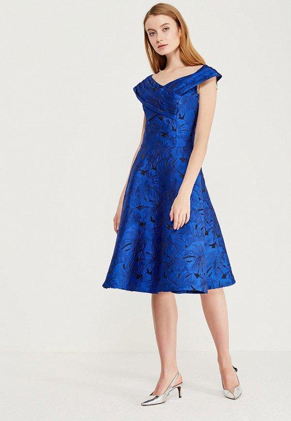 нарядное платье синее фото