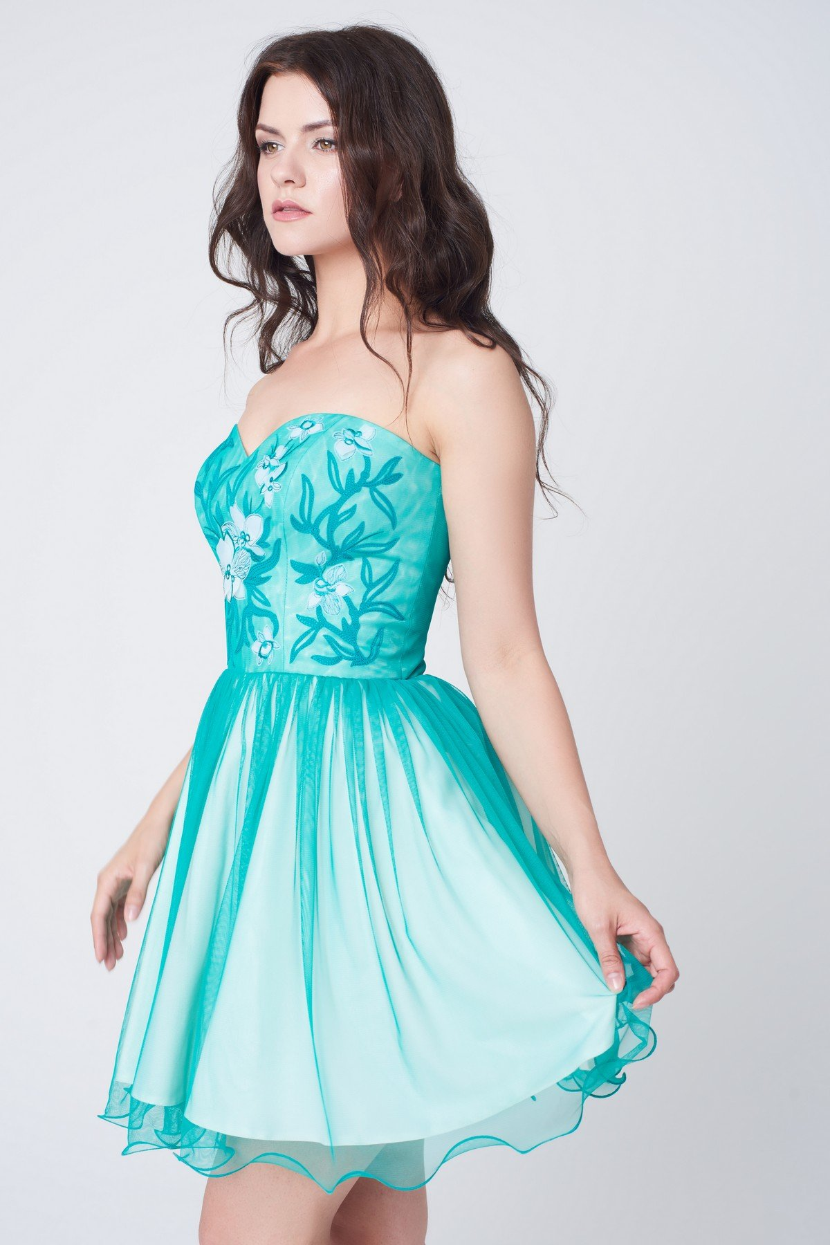 нарядное платье бирюзовое фото