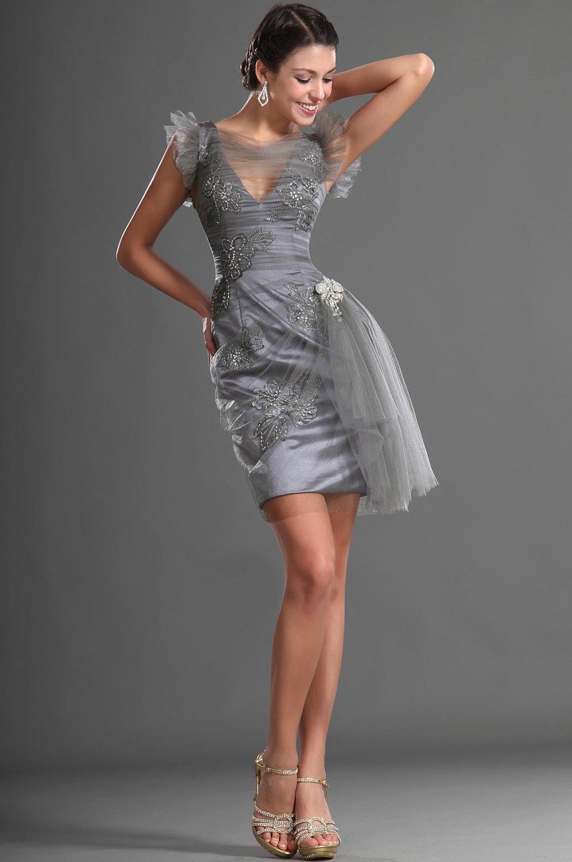 нарядное платье серое фото