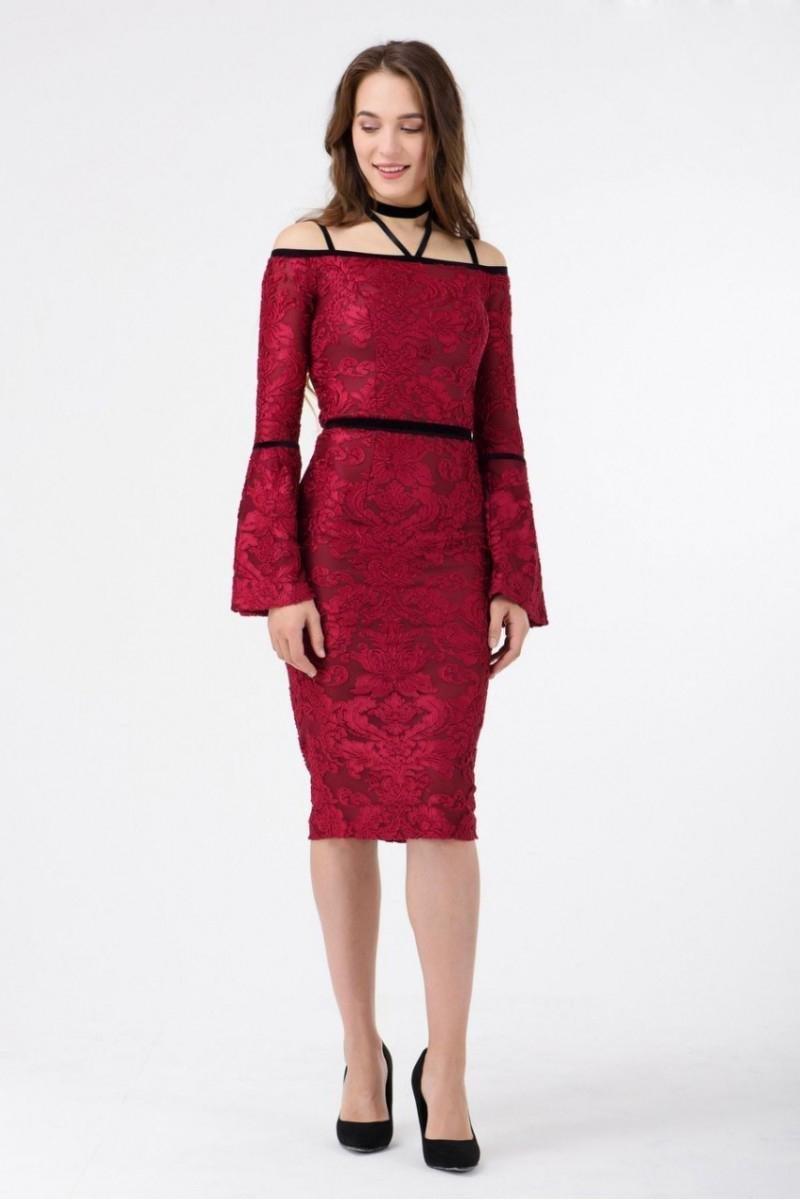 нарядное платье бордовое фото