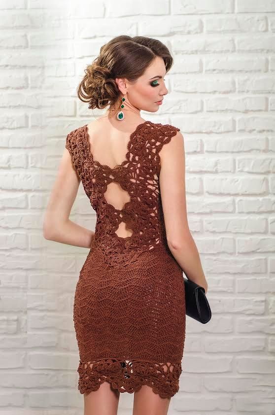 вязаное платье вечернее фото