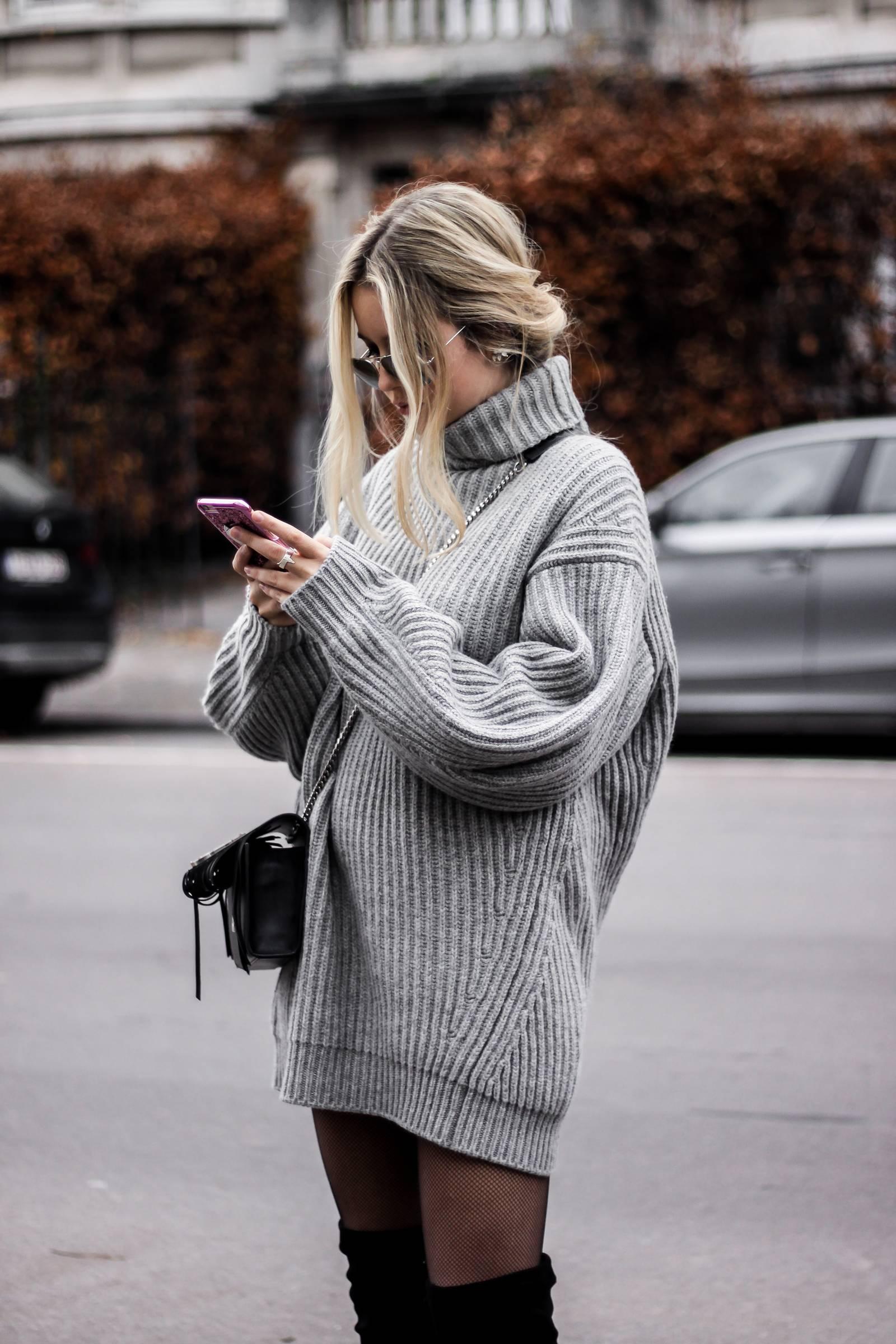 вязаное платье оверсайз фото