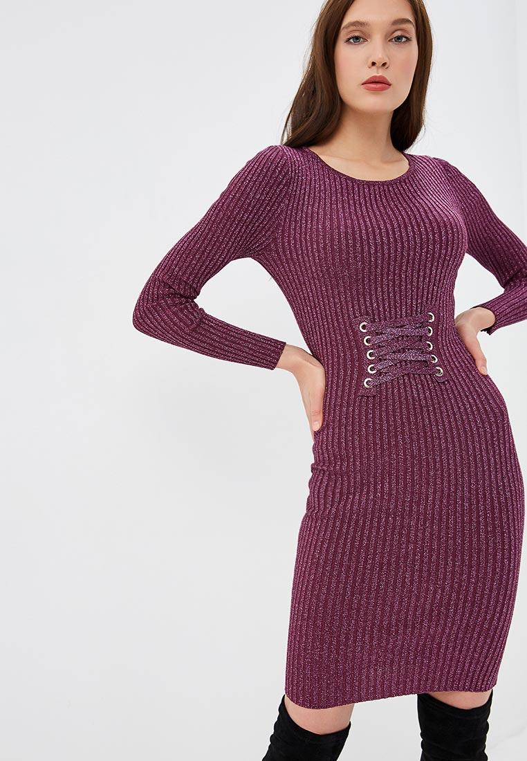 вязаное платье сиреневое фото