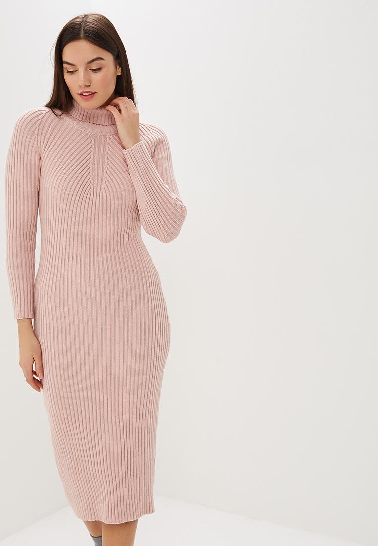 вязаное платье розовое фото