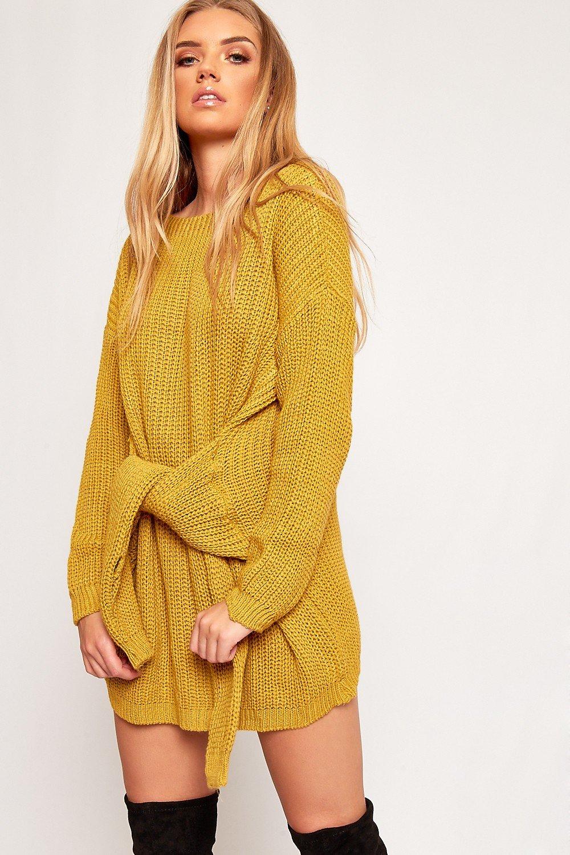 вязаное платье желтое фото