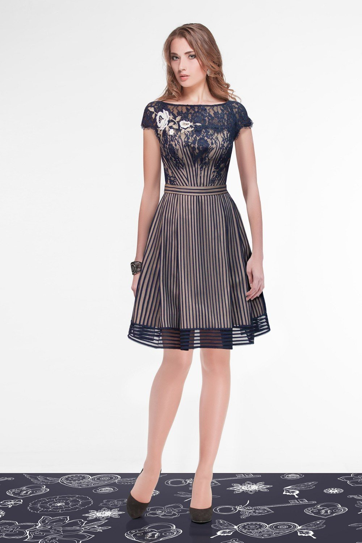 повседневное платье с пышной юбкой