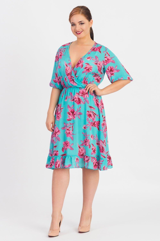 повседневное платье для полных летнее