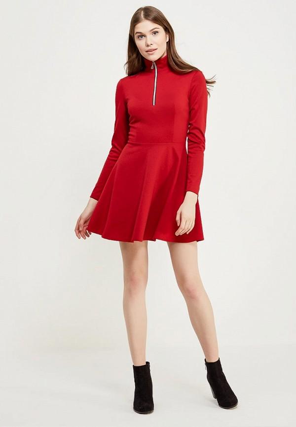 повседневное платье красное