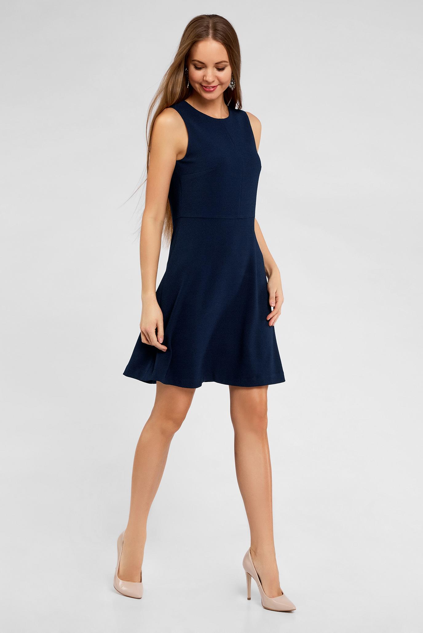 повседневное платье синее