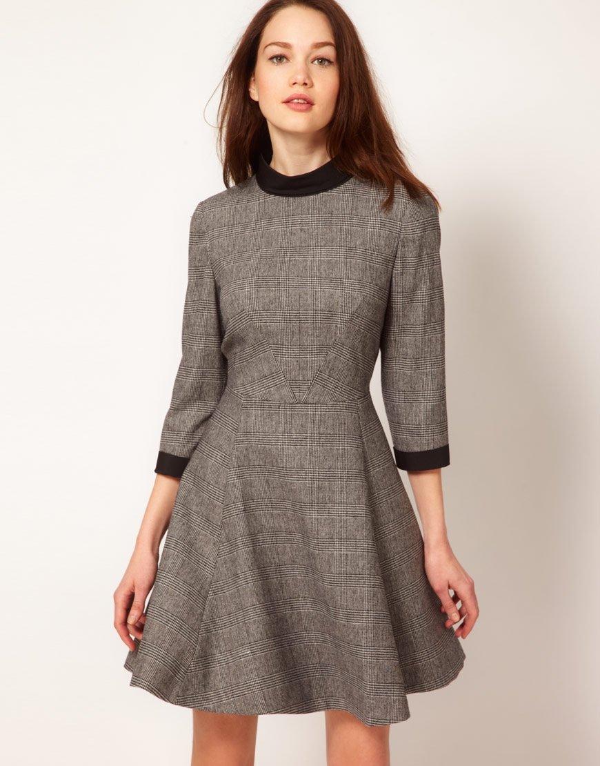 повседневное платье шерсть