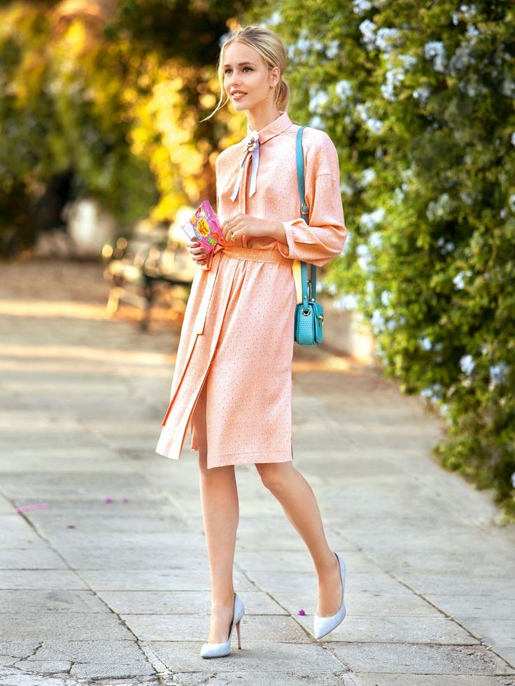 повседневное платье и лодочки