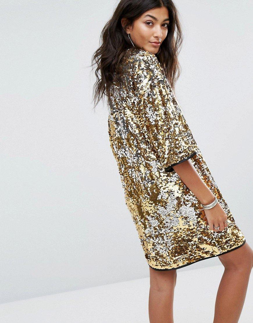платье с пайетками прямое