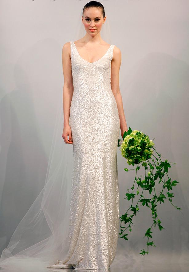 платье с пайетками свадебное