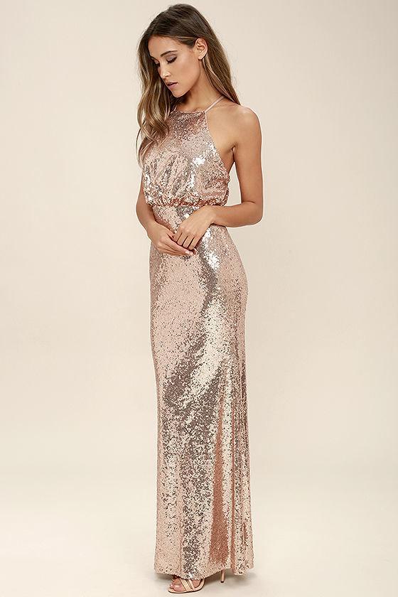 платье с пайетками вечернее длинное