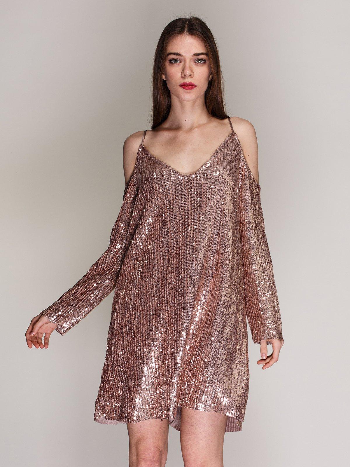 платье с пайетками а силуэта