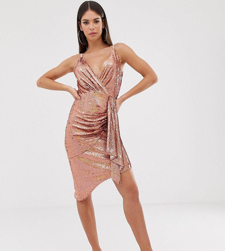 платье с пайетками цвет розовый
