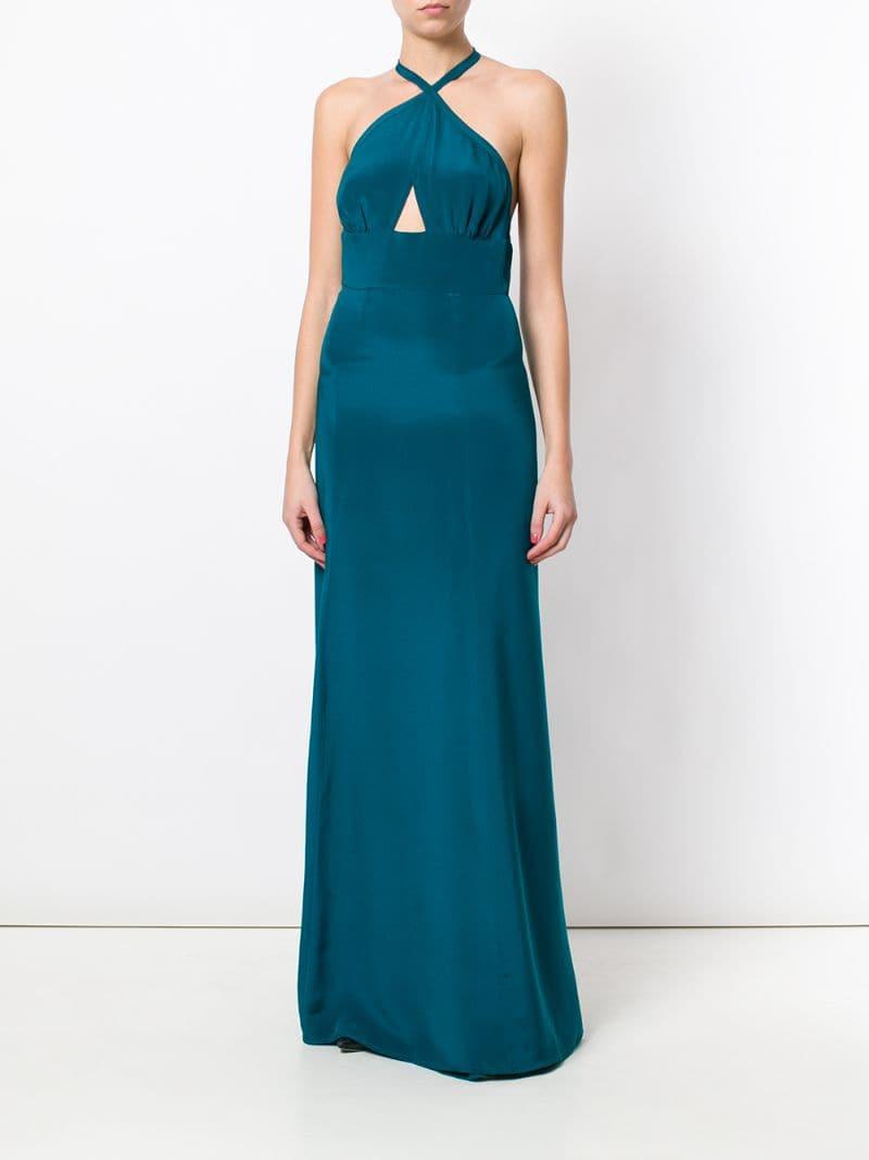 платье с вырезом петля