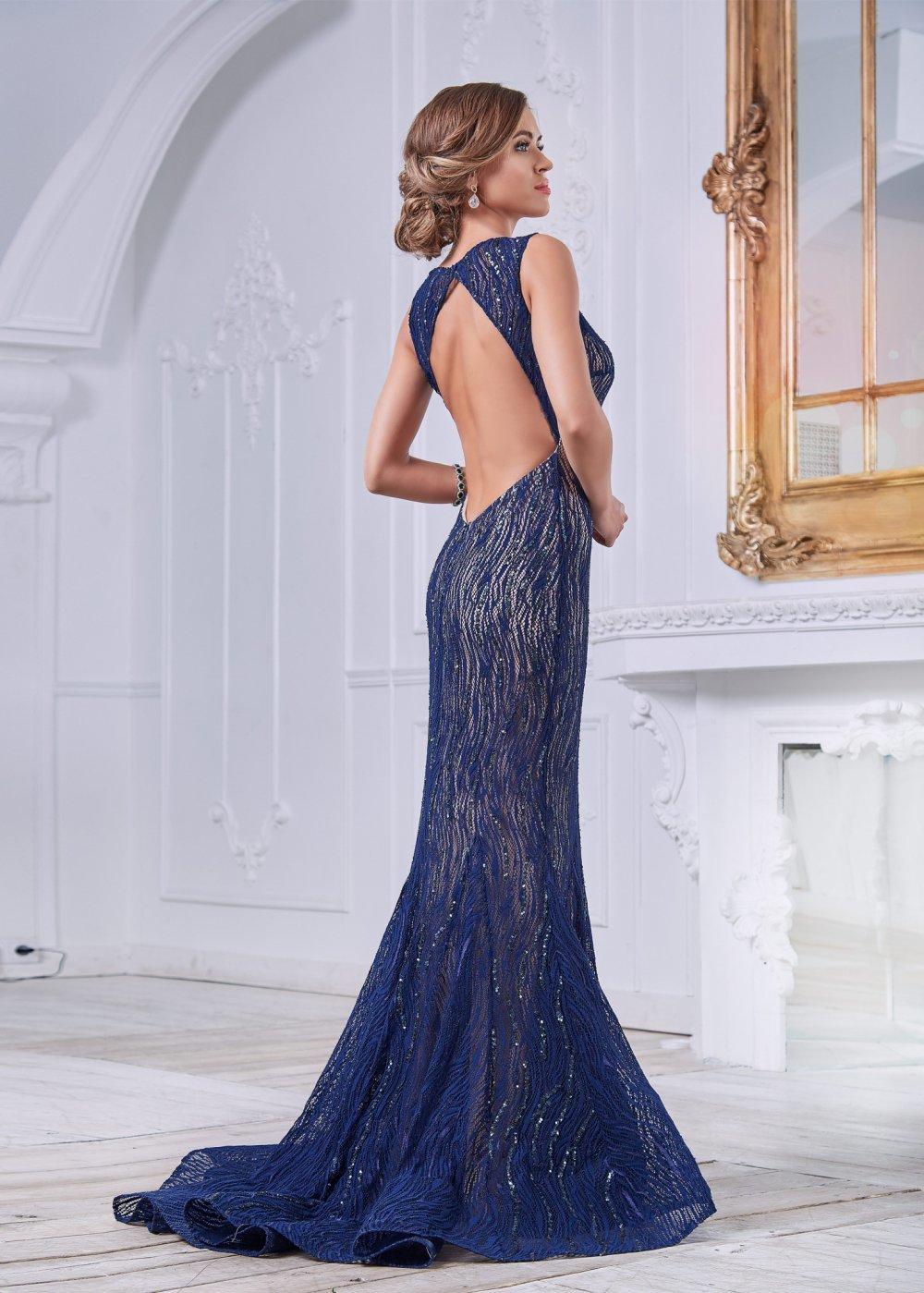 платье рыбка с открытой спиной
