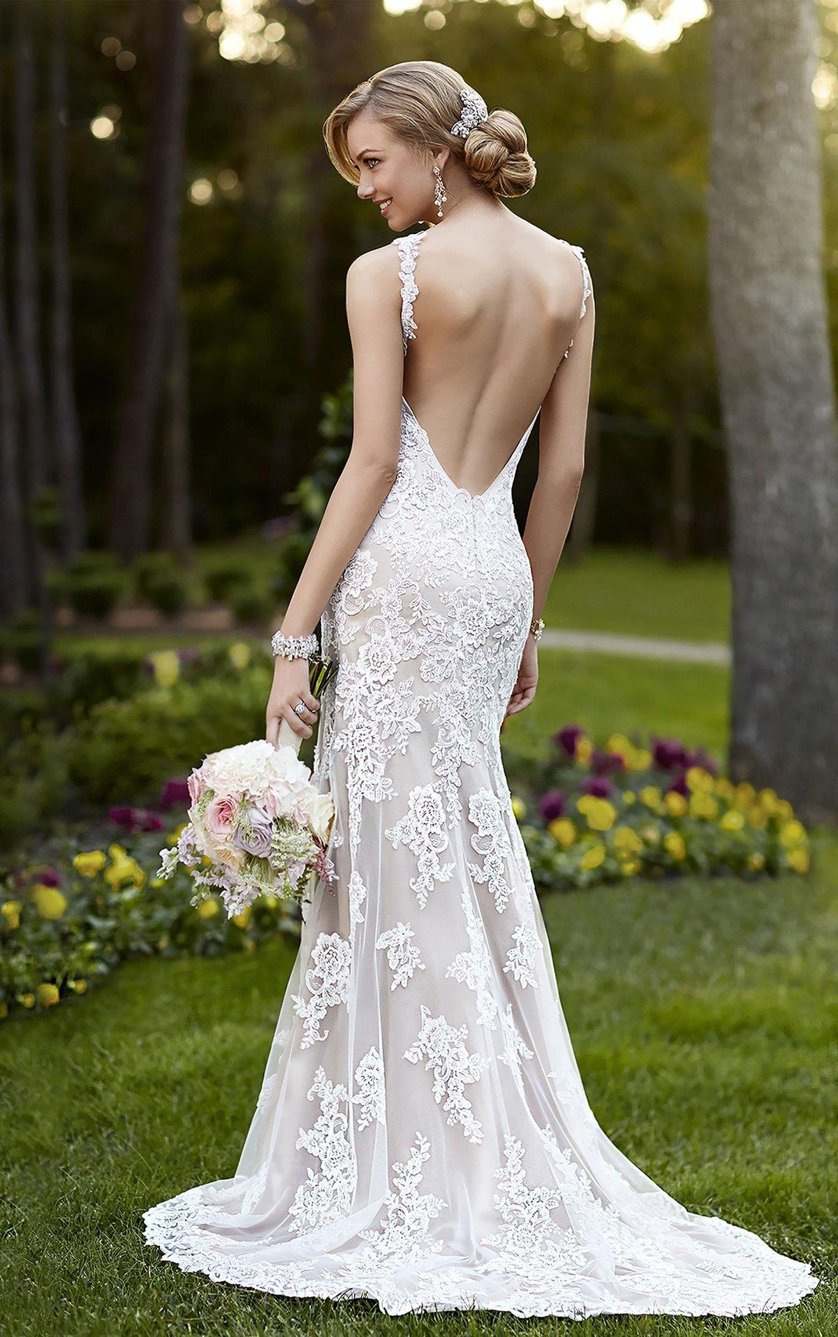 платье с открытой спиной свадебное русалка