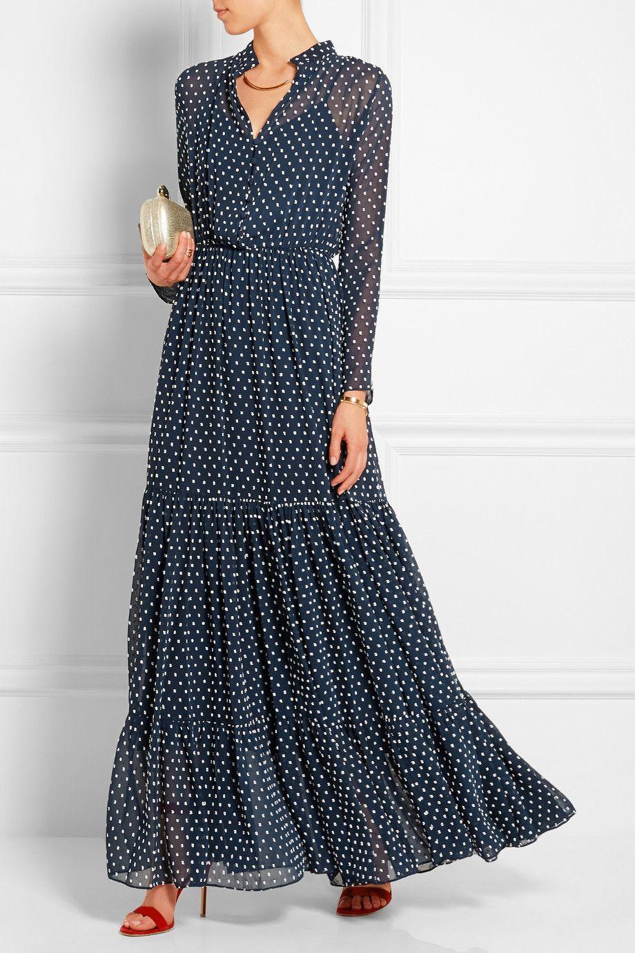 платье в горошек в стиле бохо фото