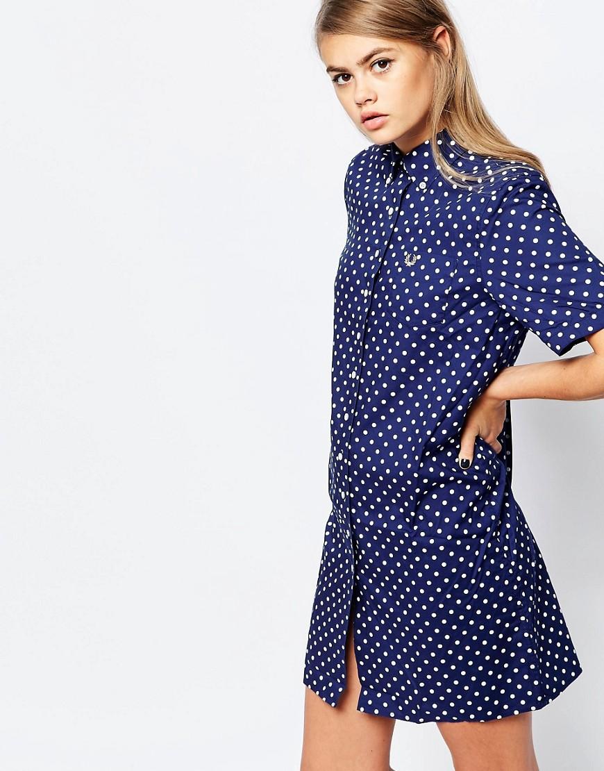 платье рубашка в горошек фото
