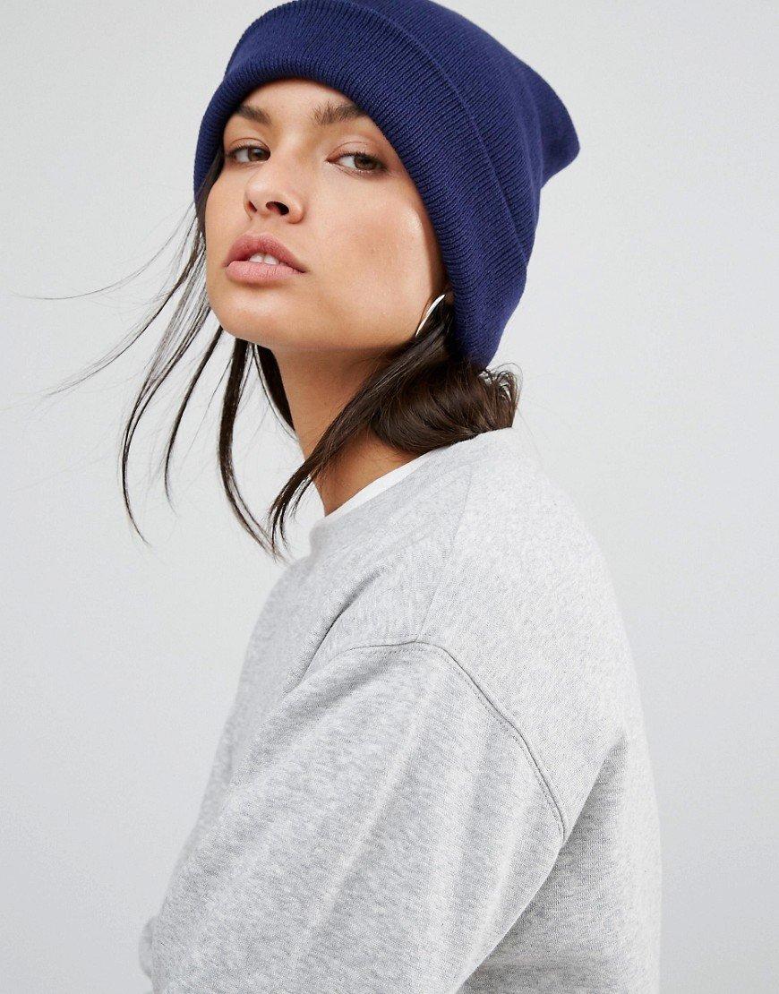 шапка-бини с отворотом фото