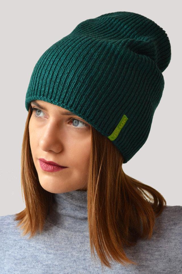 шапка бини зеленая фото