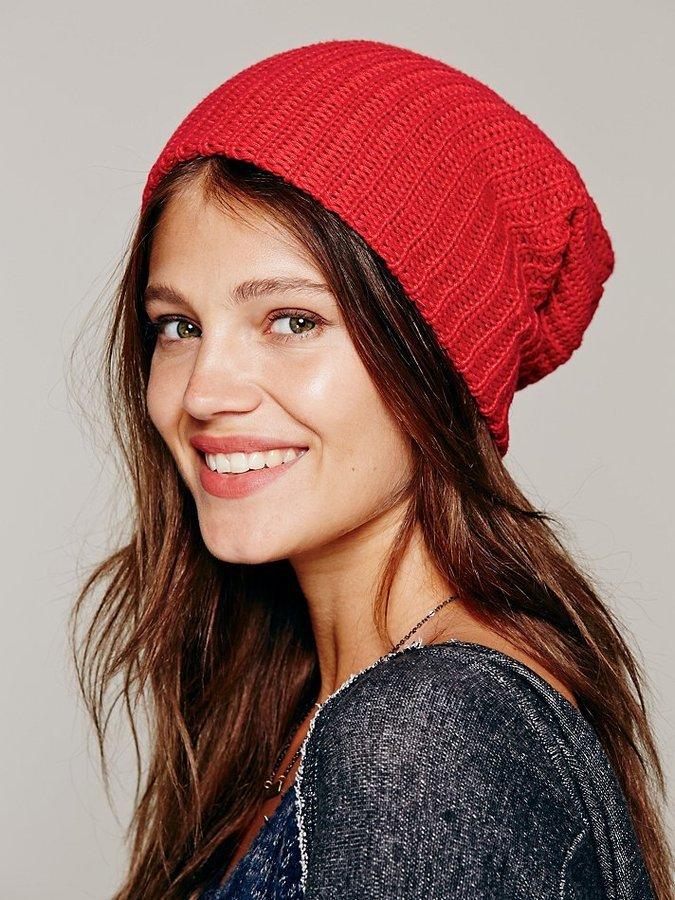 шапка бини красная фото