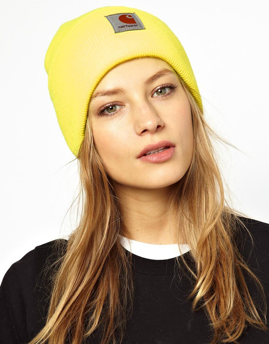 шапка бини желтая фото