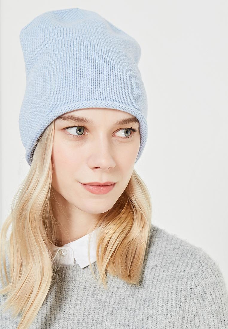 шапка бини голубая фото