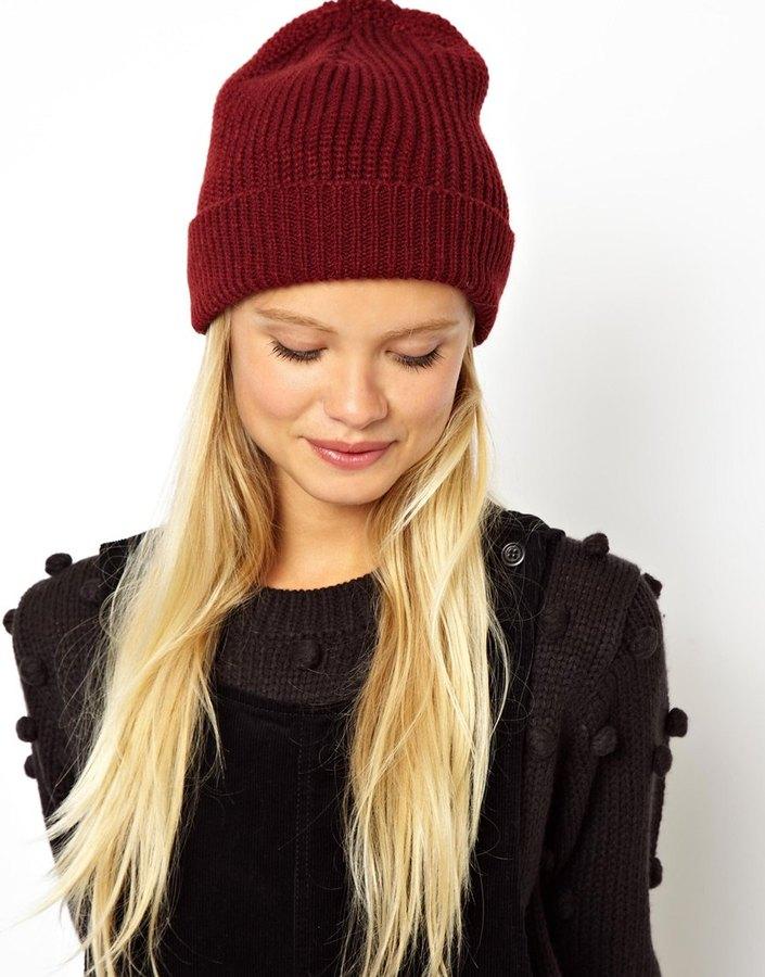 шапка бини бордовая фото