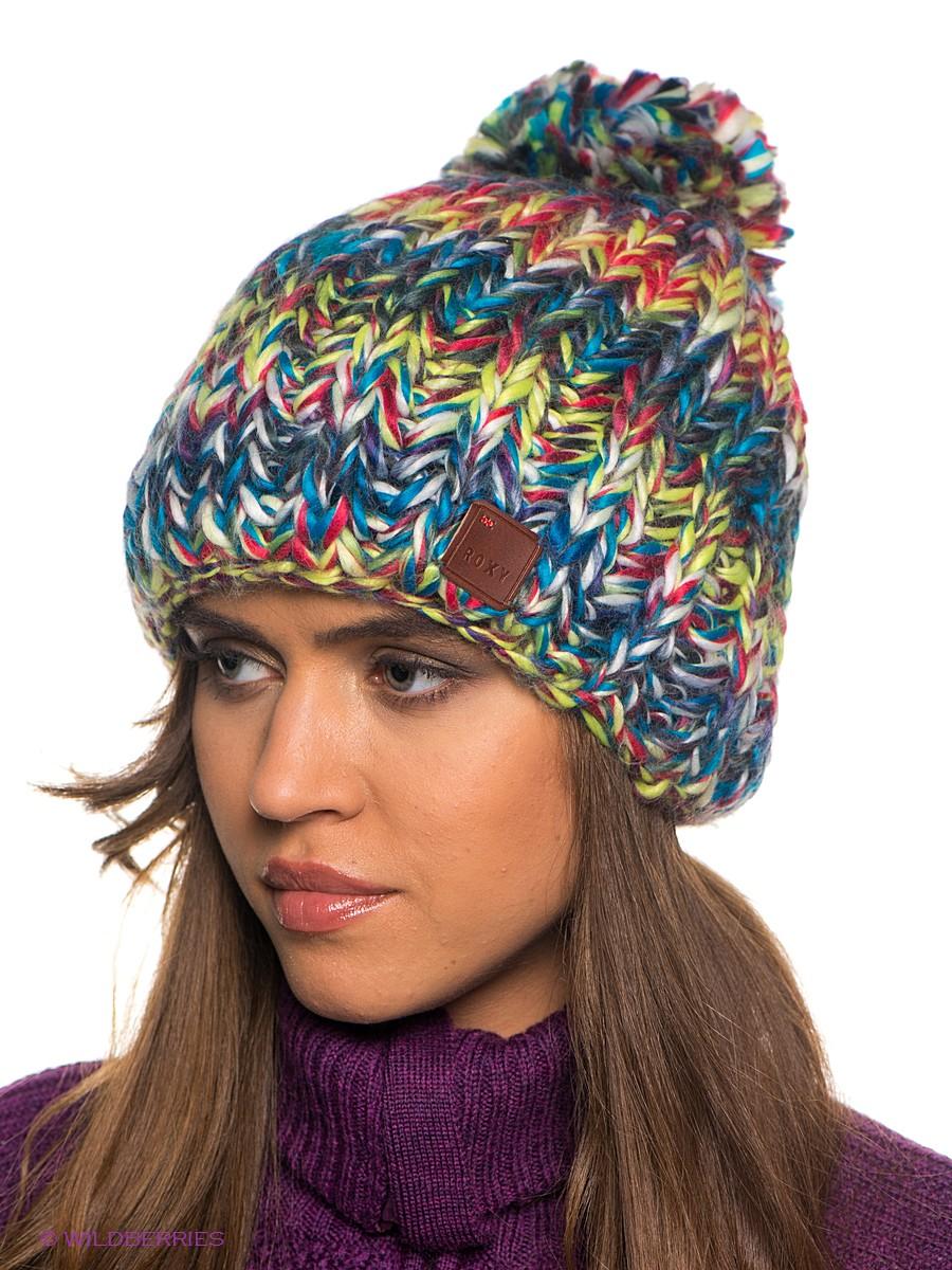 шапка бини разноцветная фото