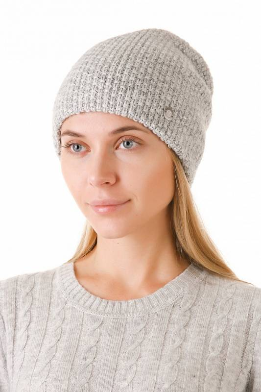 шапка бини жемчужный узор фото