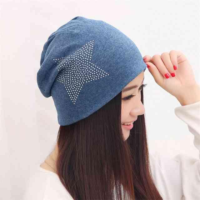 шапка бини со звездой фото