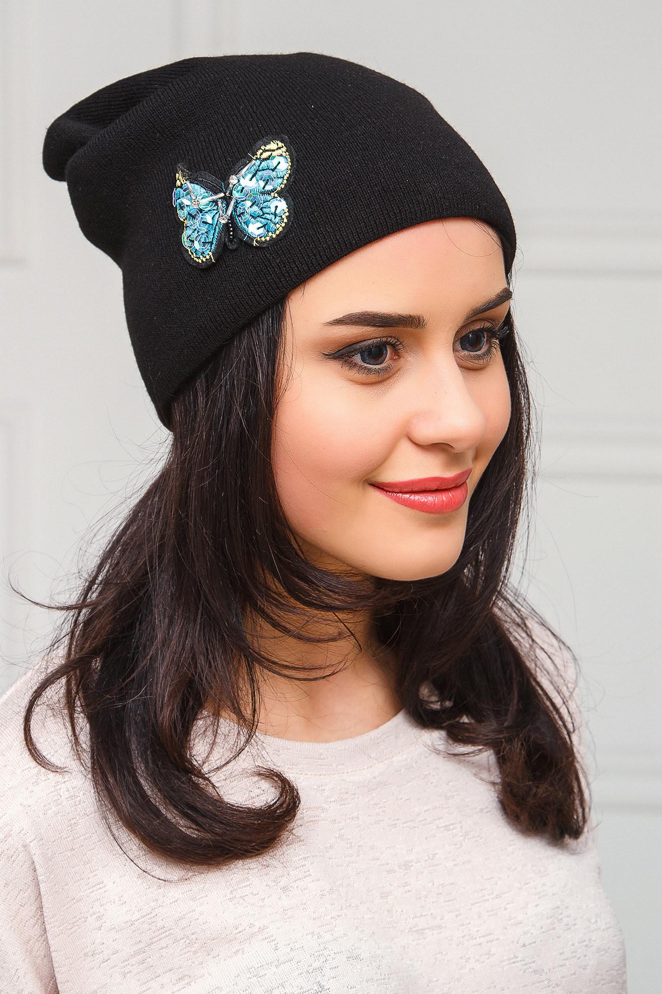 шапка бини с бабочкой фото