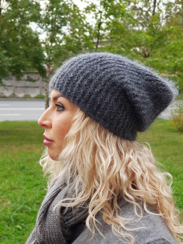 шапка бини мохер фото