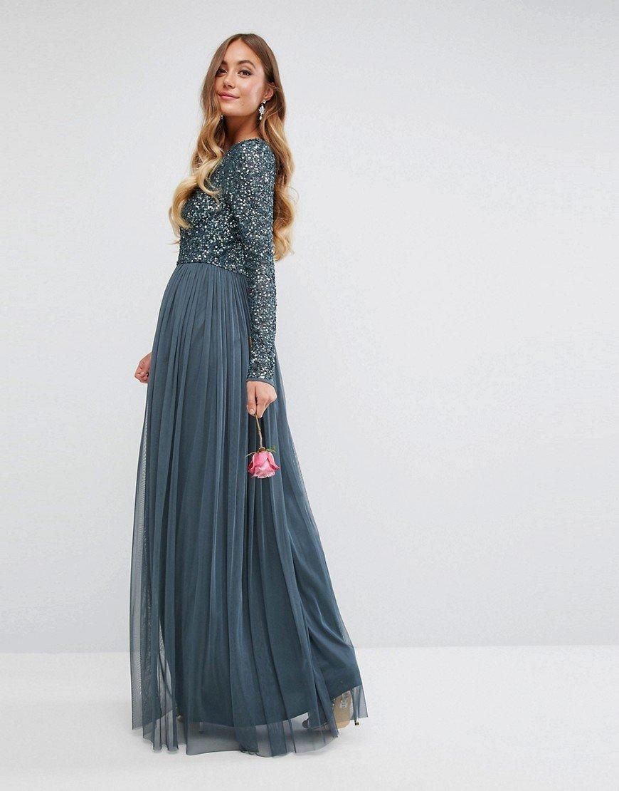 Длинное пышное платье макси фото