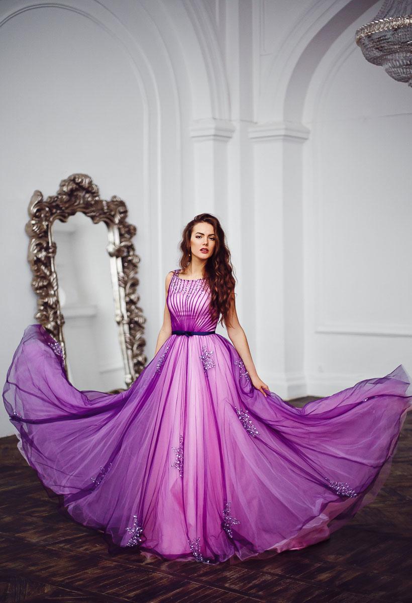 пышное платье со шлейфом фото
