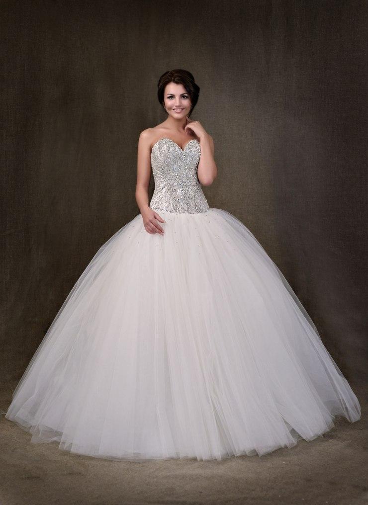 пышное платье со стразами фото