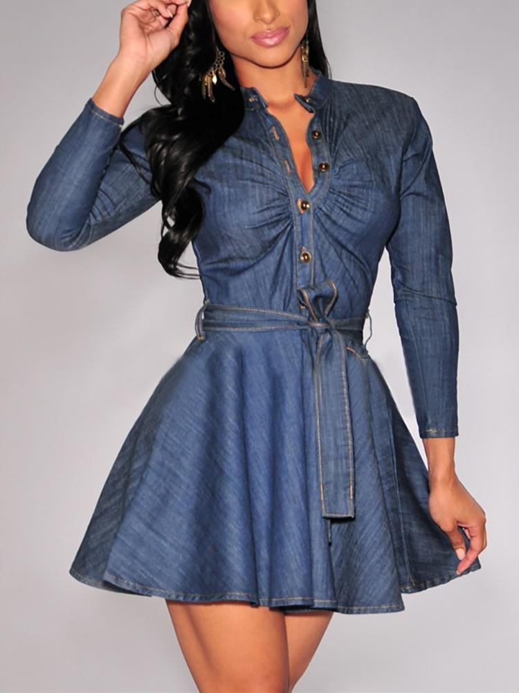 пышное платье джинсовое фото