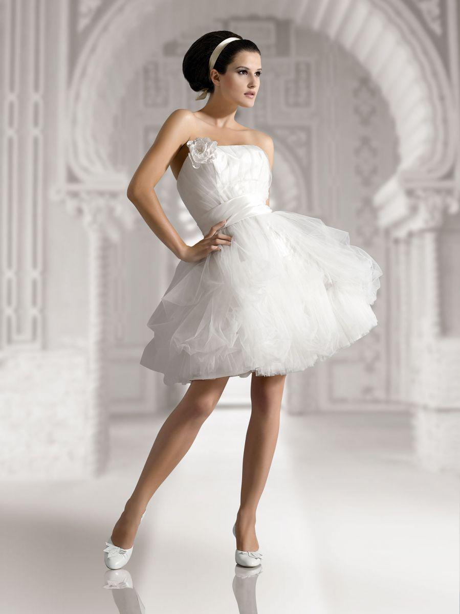 пышное платье свадебное мини фото