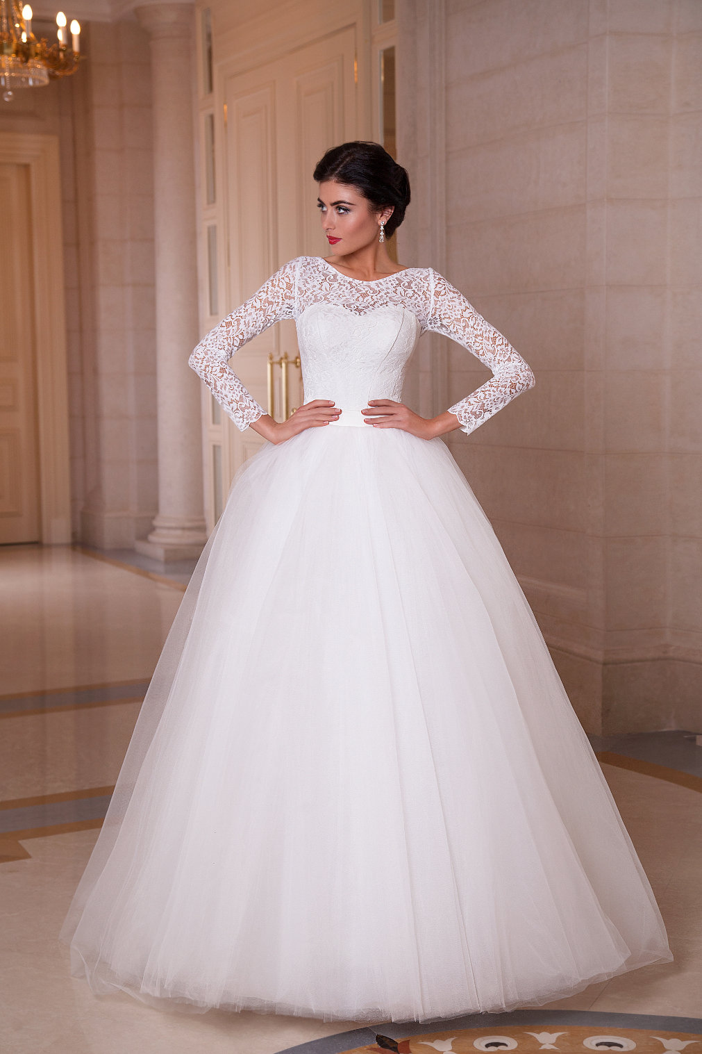 пышное платье свадебное с пышными рукавами фото