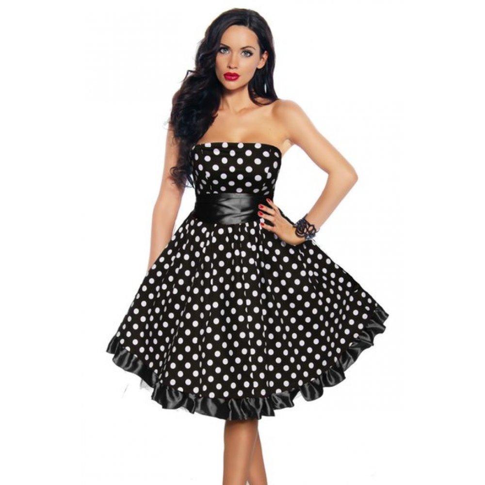 пышное платье в горошек фото