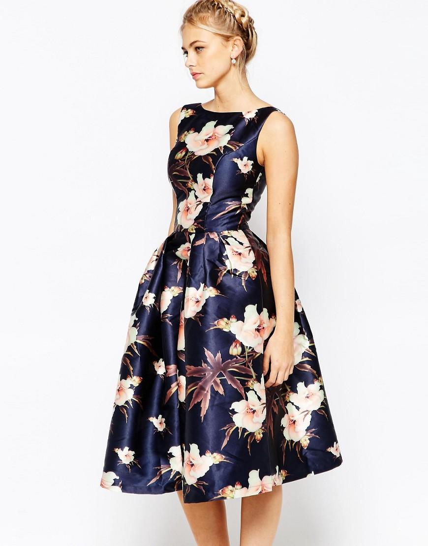 пышное платье с цветочным принтом фото