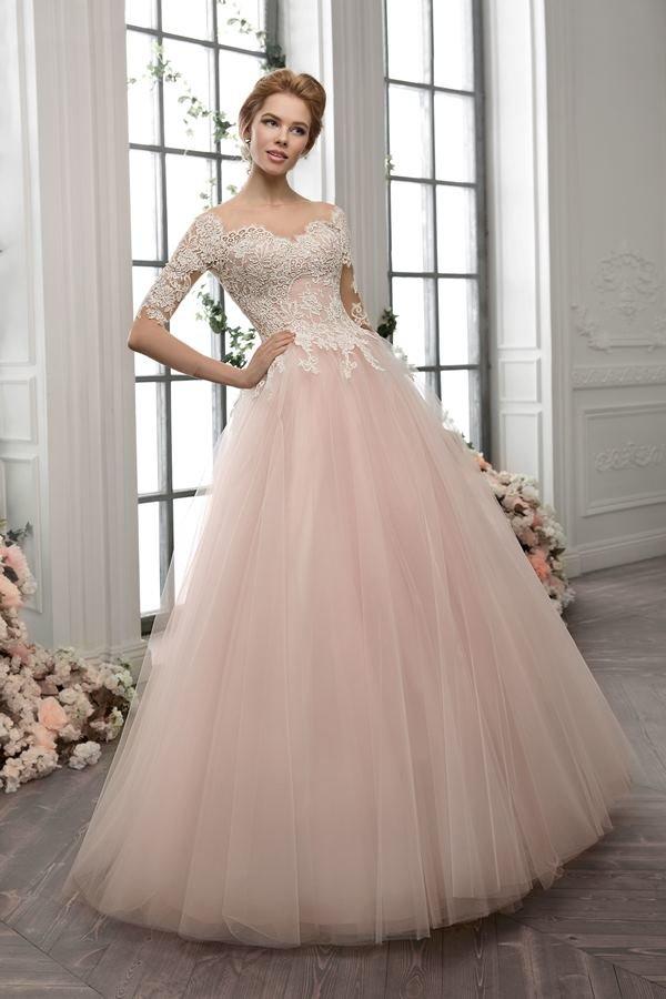 пышное платье пудровое фото