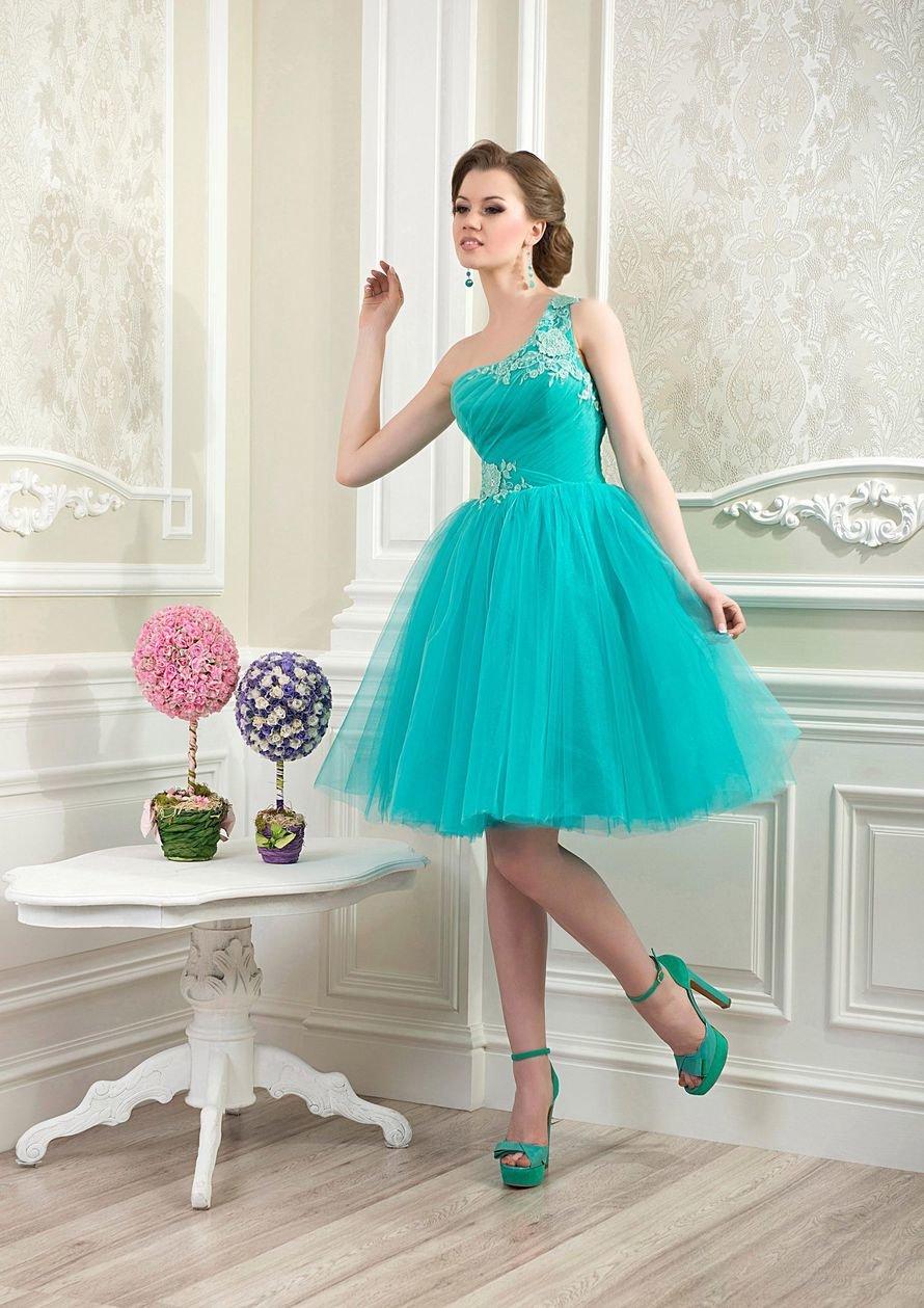 пышное платье бирюзовое фото