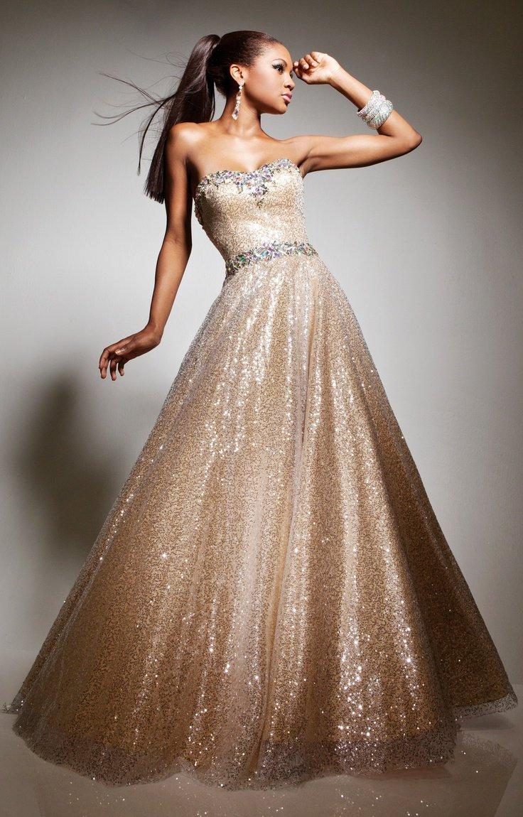 пышное платье золотое фото