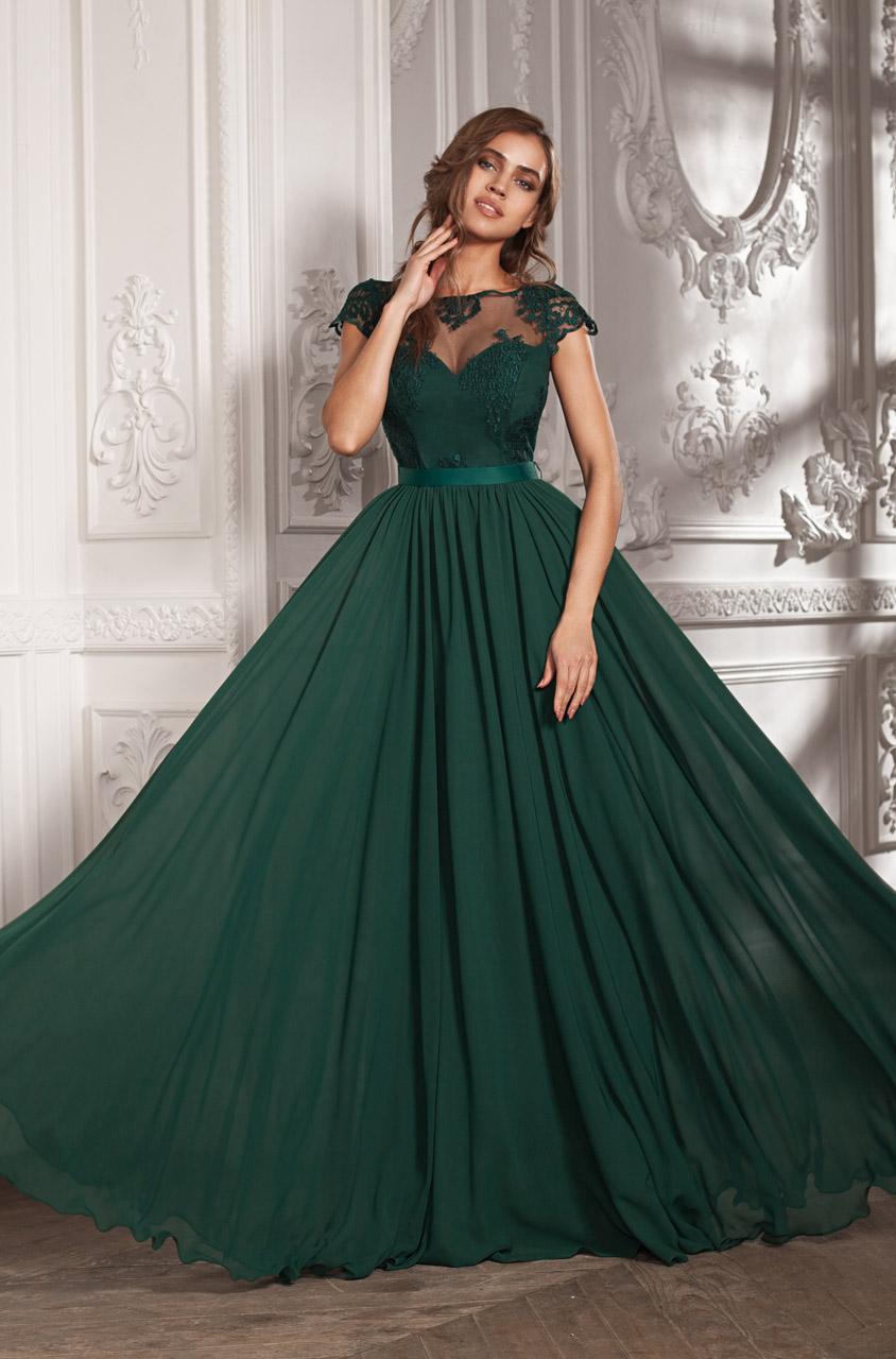 пышное платье зеленое фото